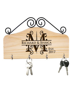 Groupon AU/NZ - Personalized Family Key Holder - Initial