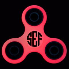 LUX - Glow-In-The-Dark Fidget Spinner - Red