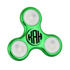 LUX  - Stainless Steel LED Fidget Spinner - Green