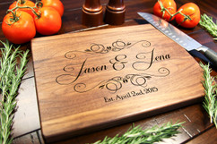 Walnut Personalized Cutting Board ~ Calligraphy Names