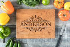 Cherry Personalized Cutting Board ~ Vine Name