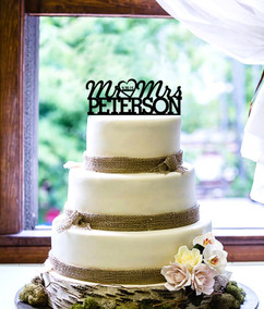 LUX  - Personalized Cake Topper - Mr & Mrs Name and Date