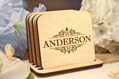 LUX - Personalized Coaster Set - Vine Name