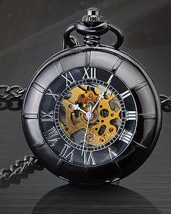 LUX  - Engraved Men Vintage Mechanical Pocket Watch W#32