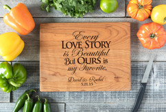 Cherry Personalized Cutting Board ~ Love Story