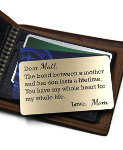 Grpn UK - Personalized Wallet Card- Mother Son Bond