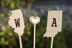 LUX  - Personalized Cake Topper - State Single Initial