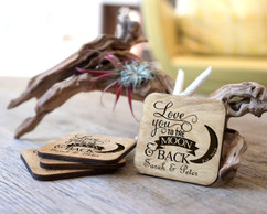 Personalized Coaster Set - Love You To The Moon & Back