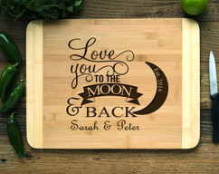 Personalized Cutting Board HDS - Love You to the Moon and Back