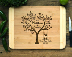 Personalized Cutting Board HDS - Two Love Birds