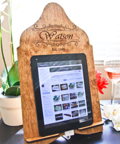 LUX - Cookbook/iPad Stand - Fancy Family Name