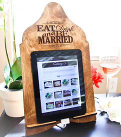 LUX - Cookbook/iPad Stand - Eat Drink be Married