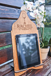 LUX - Cookbook/iPad Stand - Wine Glass