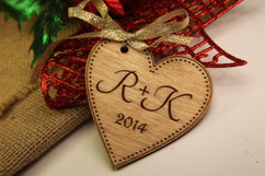 Personalized Christmas Ornament - Heart Initials