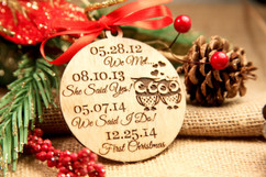 Personalized Christmas Ornament - She said yes