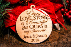 Personalized Christmas Ornament - Every Love Story