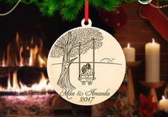 Personalized Christmas Ornament - Tree Swing