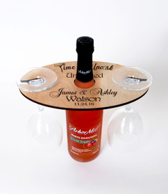 Grpn UK  - Personalized Wine Caddy & Glass holder - Time to uncork