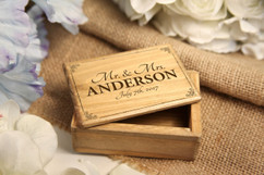 Grpn Italy - Personalized Jewelry Box - Mr Mrs Vintage