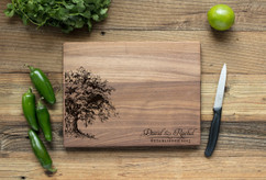 Walnut Personalized Cutting Board ~ Willow Tree