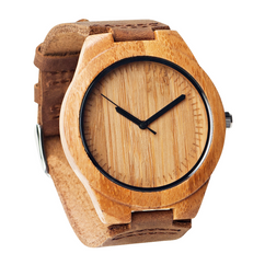 Grpn Italy - Wood Engraved  Watch W#61 - Bamboo