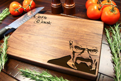 Walnut Personalized Cutting Board ~ Breaking Bad OG
