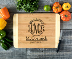 Monogram Family Personalized Cutting Board HDS