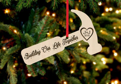 Personalized Christmas Ornament - Hammer