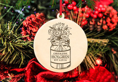 CPersonalized Christmas Ornament - Mason Jar