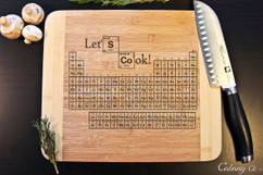 Periodic Lets Cook Personalized Cutting Board HDS