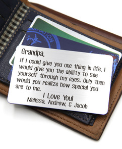 Grpn BE - Personalized Wallet Card - Grandpa How Special You Are