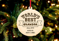 Personalized Christmas Ornament - World's Best Grandpa