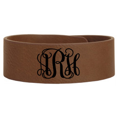 Personalized Leather Bracelet - Monogram