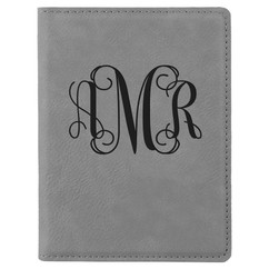 Grpn BE - Personalized Leather Passport Wallet Holder - Monogram