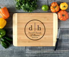 Double Initial Personalized Cutting Board HDS