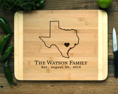 Hometown State Personalized Cutting Board HDS