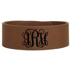 Grpn BE -Personalized Leather Bracelet - Monogram