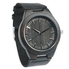 Grpn BE - Wood Engraved Watch W#100 - Ebony