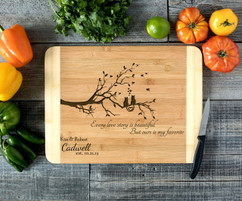 Cat Tree love Personalized Cutting Board HDS