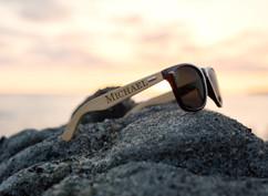 Personalized Bamboo Sunglasses -RayBan Name