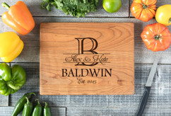Cherry Personalized Cutting Board ~ Initial Stamp