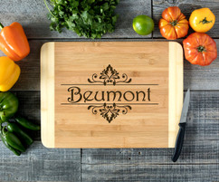 Floral Name Personalized Cutting Board HDS