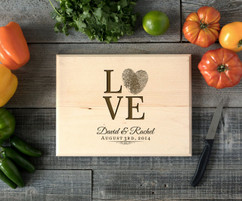 Fingerprint Personalized Cutting Board BW