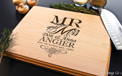 Mr and Mrs Personalized  Cutting Board BW