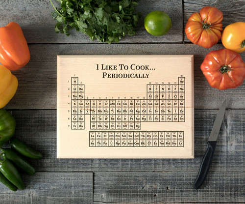 Periodic table personalized cutting board bw cabanyco save urtaz Images