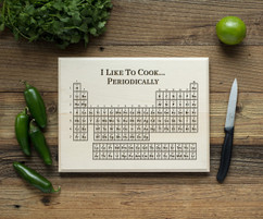 Periodic Table Personalized Cutting Board BW