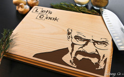 Breaking Bad Lets Cook Personalized Engraved Cutting Board BW
