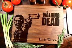 Walnut Personalized Cutting Board ~ Walking Dead