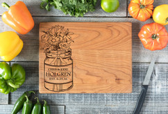 Cherry Personalized Cutting Board ~ Mason Jar