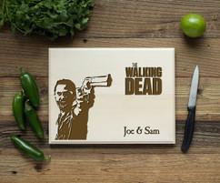 Walking Dead Personalized  Cutting Board BW